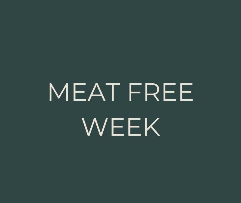 Meat free week meal plan