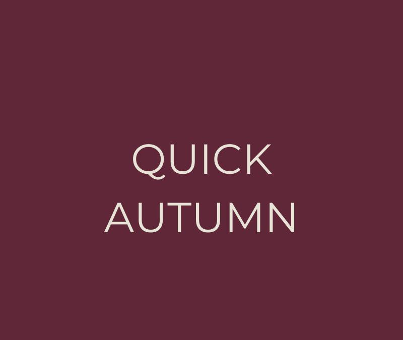 Quick Autumn meal plan